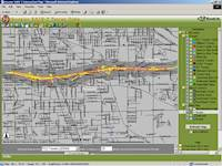 This project used GIS technology, creating a database of tower information for our client.