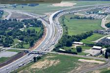 The interchange improvement included reconstruction of two miles of I-90, 0.5 miles of I-39, four ramps, three bridges, five retaining walls, a portion of U.S. 20/Irene Road intersection, and a new exit ramp from I-90 to Irene Road.