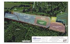 Hanson recommended site improvements for the PowerCom river terminal area on the Cumberland River near Hartsville, Tennessee, identifying near-term infrastructure improvements.