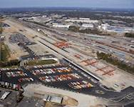 The facility expansion consists of a new 185-acre, innovative intermodal facility using rail-mounted wide-span cranes and an automated gate system.