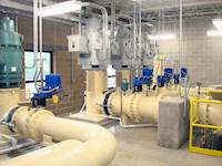 The design included a single-CMU pump station building enclosing all five pumps, as well as the associated switchgear and ancillary equipment.