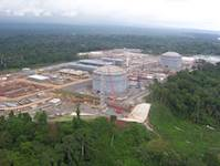 New liquefied natural gas tanks dot the landscape in oil-rich Equatorial Guinea.
