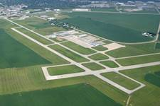 DeKalb Taylor Municipal Airport is located approximately 60 miles west of Chicago.