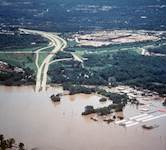 In 1993, the surging Missouri River ruptured the Monarch-Chesterfield Levee, filling Chesterfield Valley with more than 8 feet of flood water and debris.
