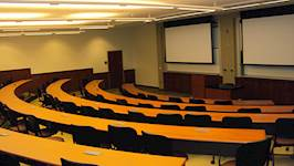 The NCCU's Nursing Building has two medium lecture rooms that each have 74 seats to accommodate smaller audiences and lecture-style classes.