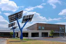 Sandy Grove Middle School in Lumber Bridge, N.C., is the first leased net-positive energy school in the U.S.