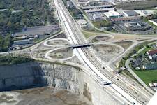 The Halsted Street interchange was one of the areas reconstructed during the Tri-State Tollway project.  The project team used temporary ramps and signals to keep traffic flowing during construction.
