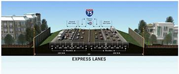 This graphic shows an alternative for I-75 express lanes.