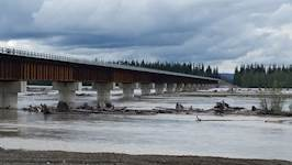 The new Tanana River Bridge offers the military improved, year-round access to training facilities south of the Tanana River.