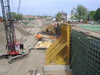 A major component of this project was planning and designing more than 60 retaining walls of varying types.