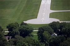 The safety program addresses airspace obstructions, such as trees at each end of the four runway ends at Bowman Field.