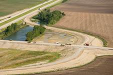 Hanson conducted a feasibility study for a new Interstate 57 interchange and two-lane connecting road.