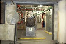 As part of a capital improvement, the Florida Department of Management Services installed a new boiler in the Zora Neale Hurston Building to improve the building's energy efficiency.