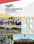 The cover of the final North Interstate 75 Master Plan project report as presented to the owner, Florida Department of Transportation.