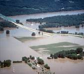 The Monarch-Chesterfield Levee was a 100-year levee in 1992 when the Missouri River broke through its western side.