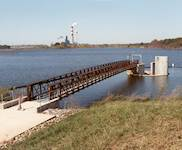 Hanson provided engineering services for the design of a 35-foot spillway extension, intake structure, and pedestrian bridge at this power station dam.